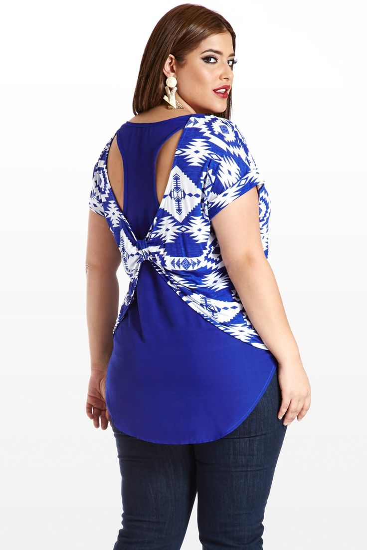 Let's Cross the Border Aztec Plus Size Top