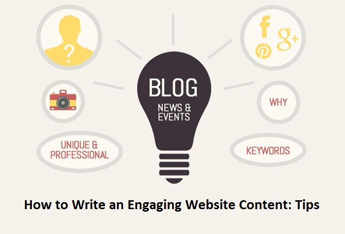 How to Write an Engaging #Website #Content: #Tips  - #SEO #socialmedia