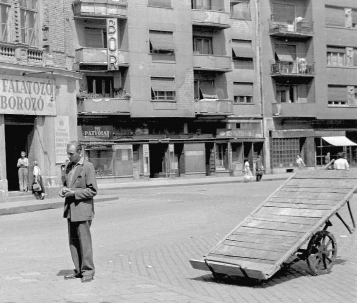 Dob utca / Csanyi utca corner, 1955
