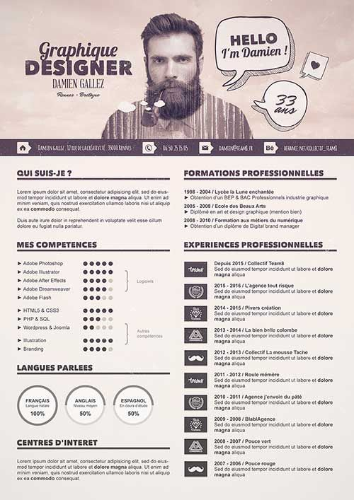 47 best Creative Resumes   Currículums Creativos images on - social media resume examples