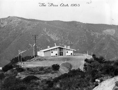 """Photograph article dated October 14, 1963 partially reads, """"Santa Susana Pass, once a gambling place for early Native Americans, has found new life as a gambling spot for modern-day Valley residents. Motorists threading their way through the narrow pass road seldom notice... The Pass Club, only an ace from the Los Angeles County line, is one of six card rooms licensed by Ventura County. Others are scattered in various parts of the county, including Camarillo and Ventura."""" Source: LAPL"""