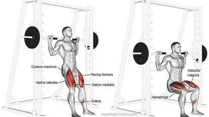 Smith chair squat exercise