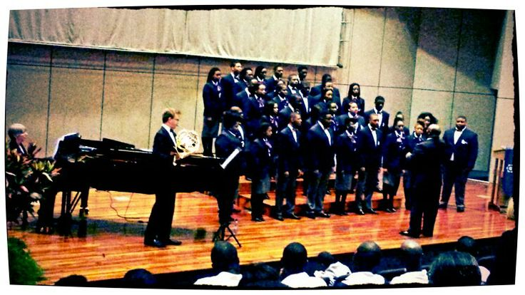 Lincoln University of Pensylvania Concert Choir featuring NMMU music student Dylan Barker on the French Horn on April 17, 2014