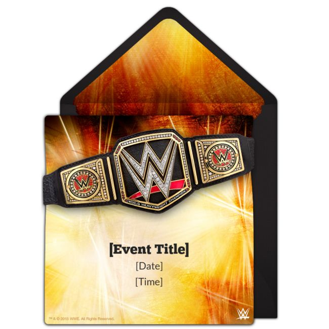 The perfect way to invite friends for a WWE watch party or a WWE birthday party -- free WWE invitations.
