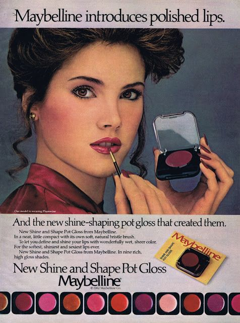 UNIDENTIFIED MODEL Maybelline Ad 1982