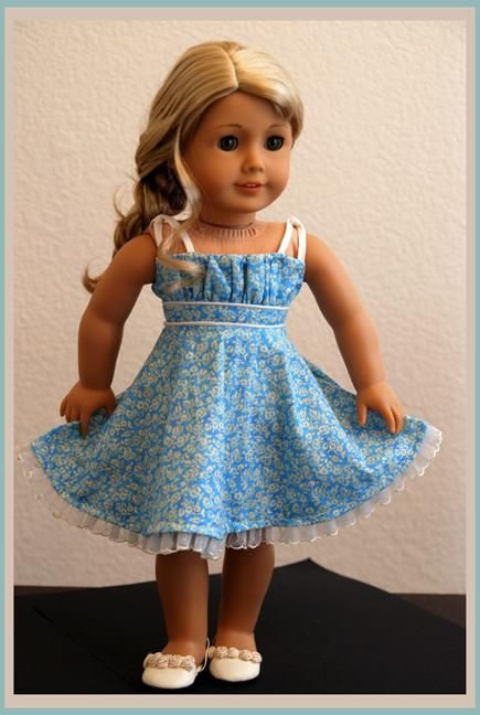 Summer Grace Sundress - Dollhouse Design sewing pattern on Craftsy for American Girl dolls