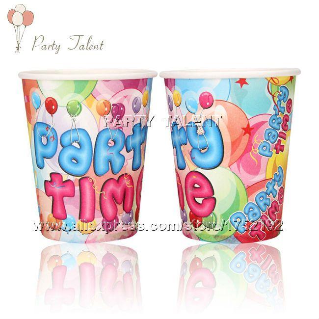 Ну вечеринку поставляет 20 шт. тема ну вечеринку на день рождения ну вечеринку украшения одноразовая посуда разовые бумажный стаканчик чашки