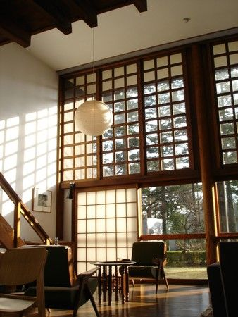 [[the house of architect Kunio Maekawa, at the Edo-Tokyo Open Air Architectural Museum]