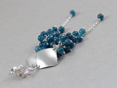 CHILEART ___ apatyt i srebro grona ___ - ChileArt - Sklep internetowy z biżuterią artystyczną