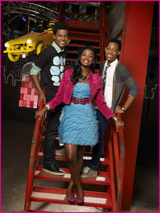 "LET IT SHINE - Disney Channel's ""Let It Shine"" stars Trevor Jackson as Kris, Coco Jones as Roxie and Tyler James Williams as Cyrus. (DISNEY CHANNEL/CRAIG SJODIN)"