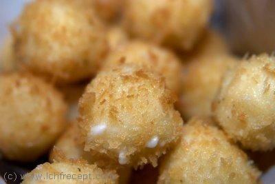 Friterad ost med räkor