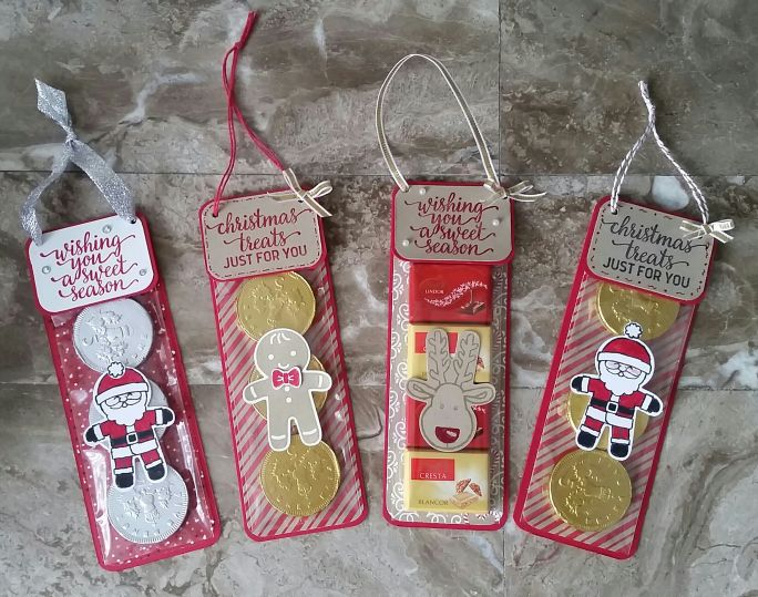 Stampin' Up! Demonstrator stampwithpeg – Christmas Craft Fair makes : Hanging Sweet Treats,Candy Cane Lane & Cookie Cutter Christmas with Instructions. I just cant stop crafting with these two…