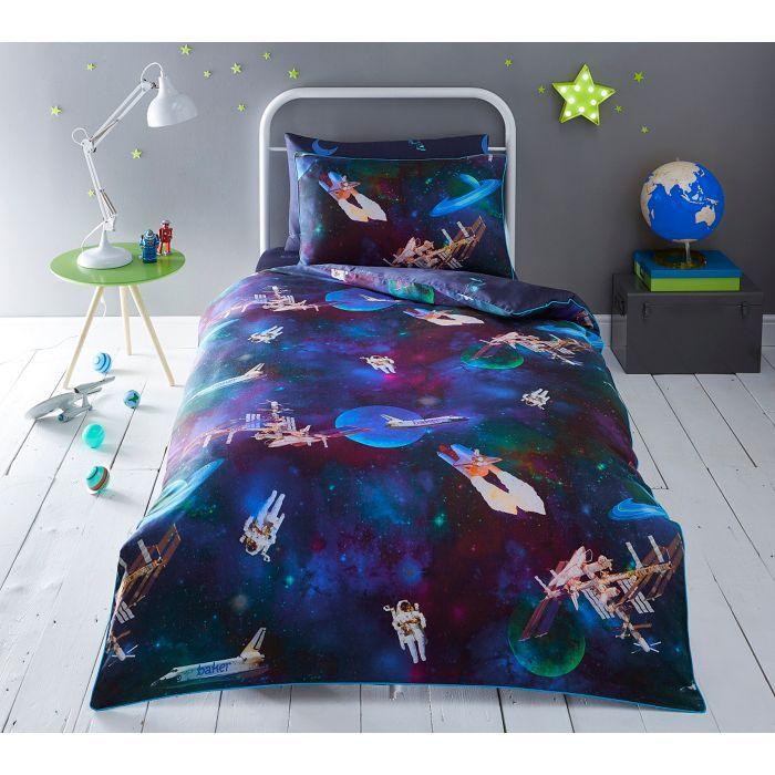 Baker by Ted Baker Kids' multicoloured 'Space' duvet cover and pillow case set | Debenhams