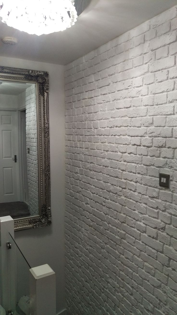 'Old White' Brick Effect Cladding. Supplied by Brick-Clad. Interior Design, Feature Wall, Faux Brick, Country Style