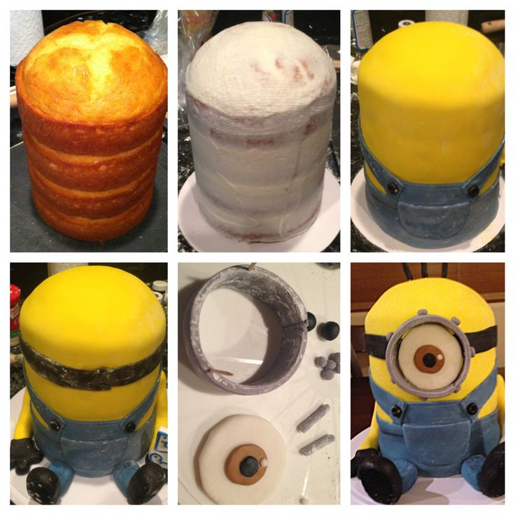 Minion cake tutorial !!