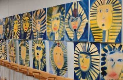 Waldorf ~ 5th grade ~ Ancient Egypt ~ watercolor paintings