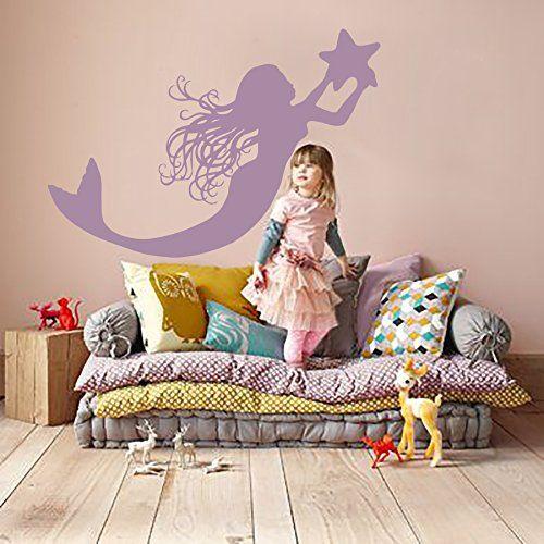 Mermaid Wall Decals Decal Vinyl Sticker Bathroom Window Nursery Children Bedroom Home Decor Dorm Interior Art Murals MN834