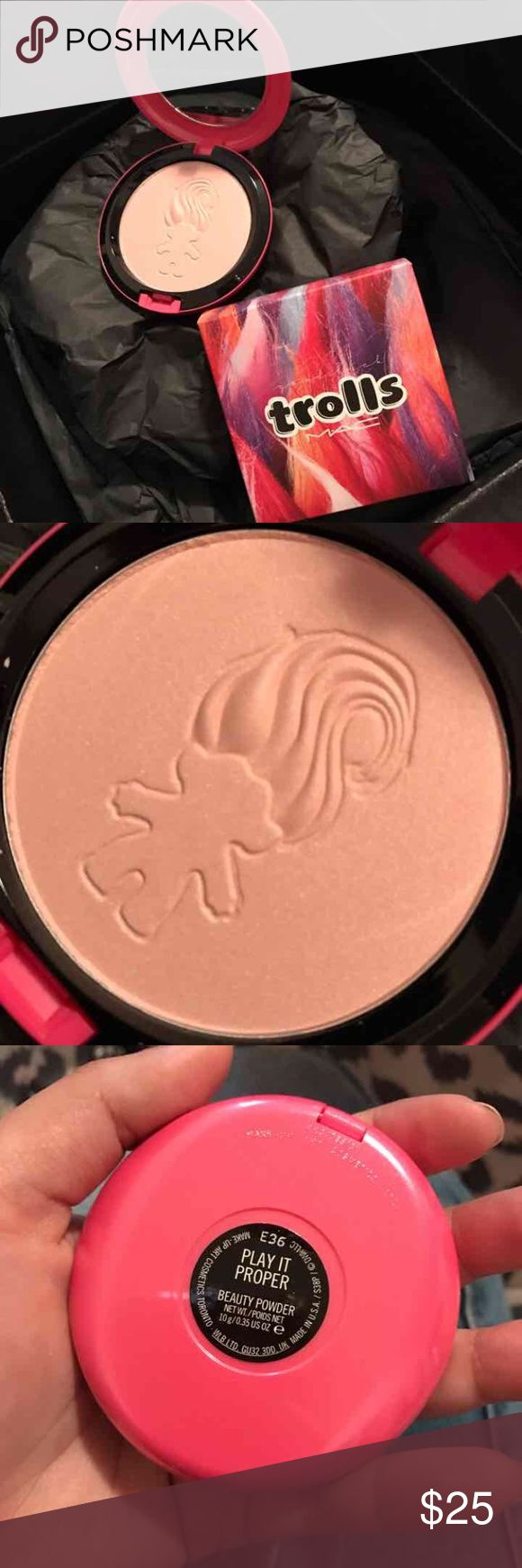 MAC COSMETICS HIGHLIGHTER 100% authentic! Limited edition trolls beauty powder. Brand new. Price firm unless bundled MAC Cosmetics Makeup Face Powder