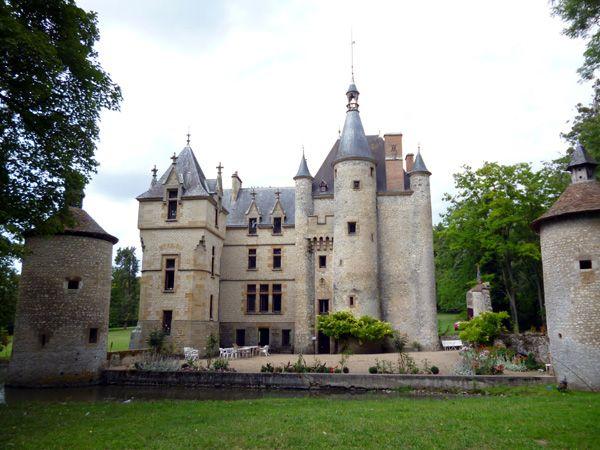 Château de l'Augere, situé sur la commune d'Agonges, Allier, Auvergne France.