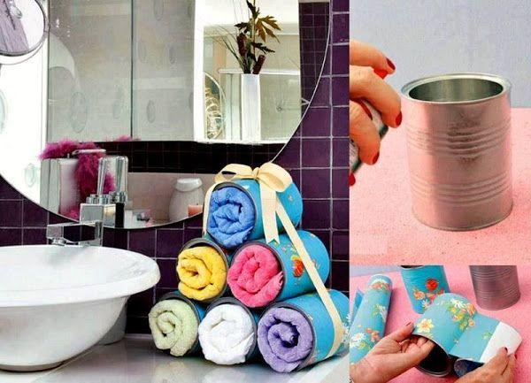 Estante De Baño Para Toallas:sobre Decoración De La Toalla De Baño en Pinterest
