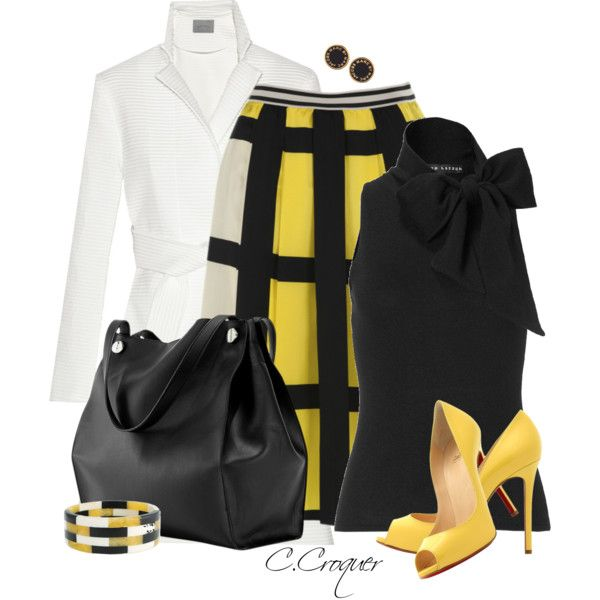 """White Coat+Solid Color Bag"" by ccroquer on Polyvore"