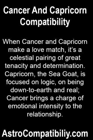 When Cancer and Capricorn make a love match.... | AstroCompatibility.com