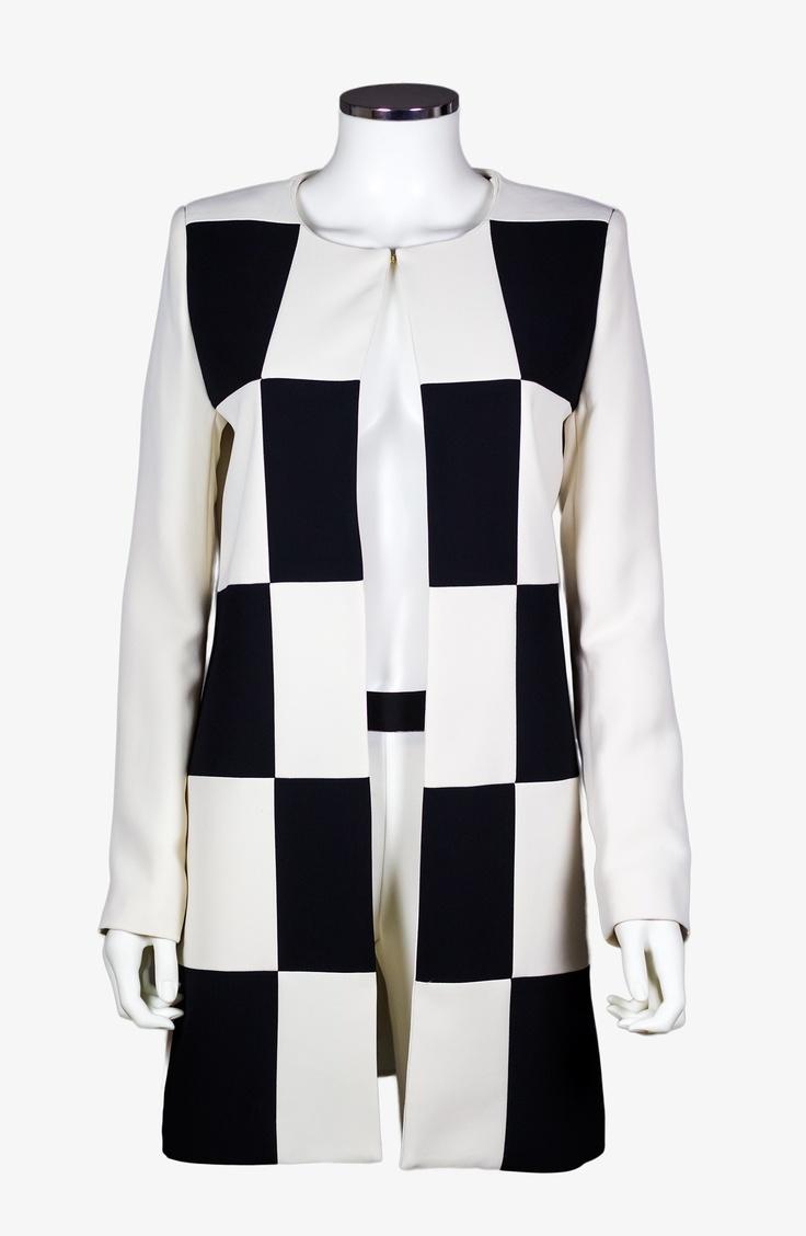 Ivory and Black Coat