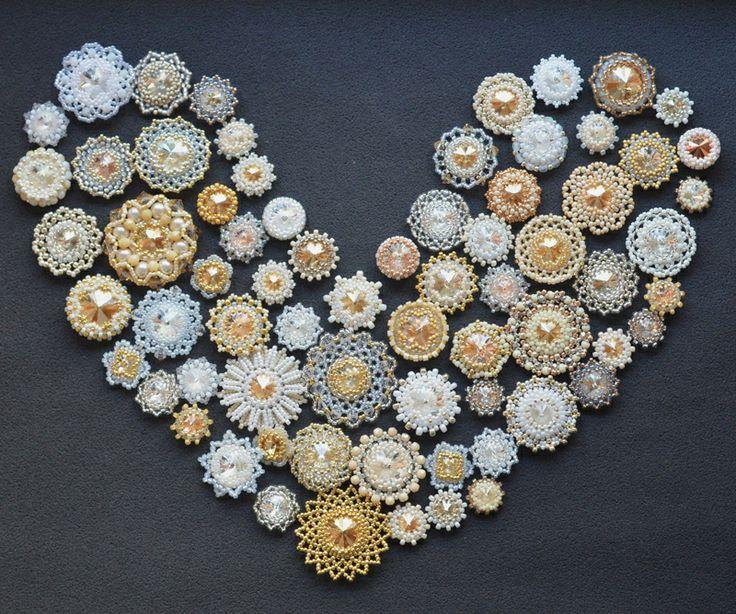 Kolia ślubna...magiczna, pełna dobrej energii #bizuteryjkidlawosp #wośp #biżuteryjki