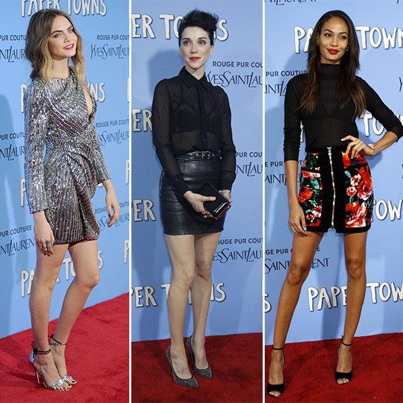 Cara Delevingne accompagnée de St Vincent pour la première new-yorkaise de Paper Towns - tapis rouge | HollywoodPQ.com