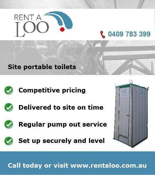 Best alternative to Portaloo. Site toilets