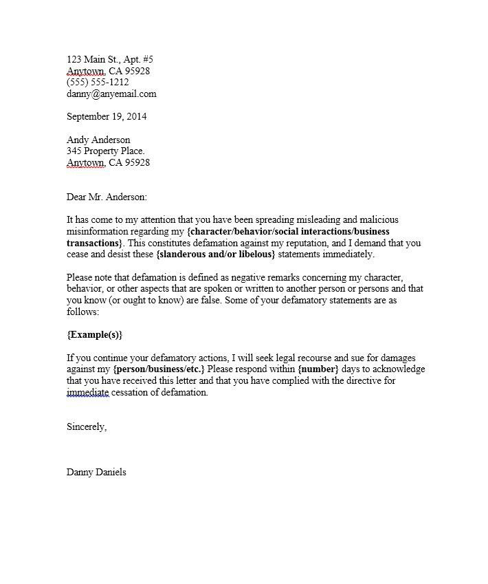 Cease And Desist Template Letter Templates Free Cease And