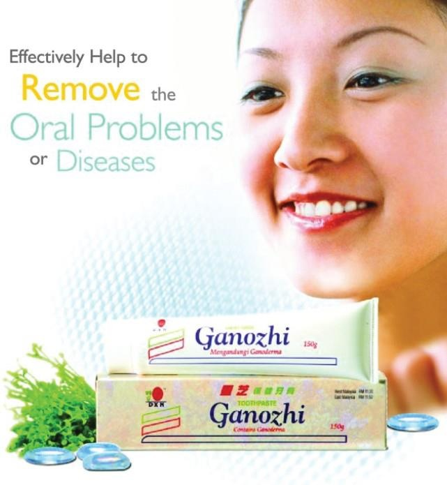 DXN Ganozhi Toothpaste contains no saccharin and colouring but with high quality of Ganoderma extract, food gel, menthol and food flavouring. It can effectively cleanse your teeth for fresh breath and taste in your mouth. It also makes your teeth healthier and brighter.