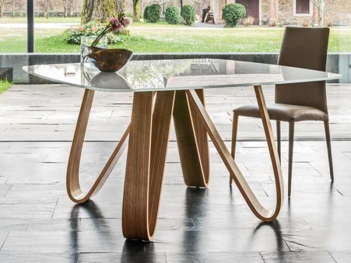 Modern Wooden Rectangular Butterfly Dining Table In A Choice Of