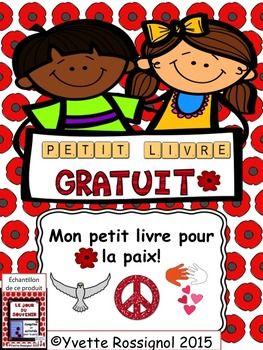 Pour le jour du souvenir. Les élèves peuvent illustrer chaque page et ils peuvent aussi ajouter leurs idées à ce livre sur les pages supplémentaires!