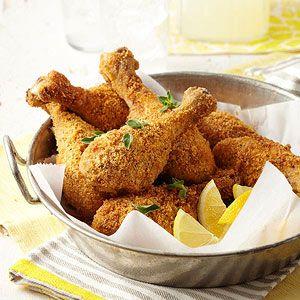 Oven-Fried Parmesan Chicken Drumsticks #myplate #protein