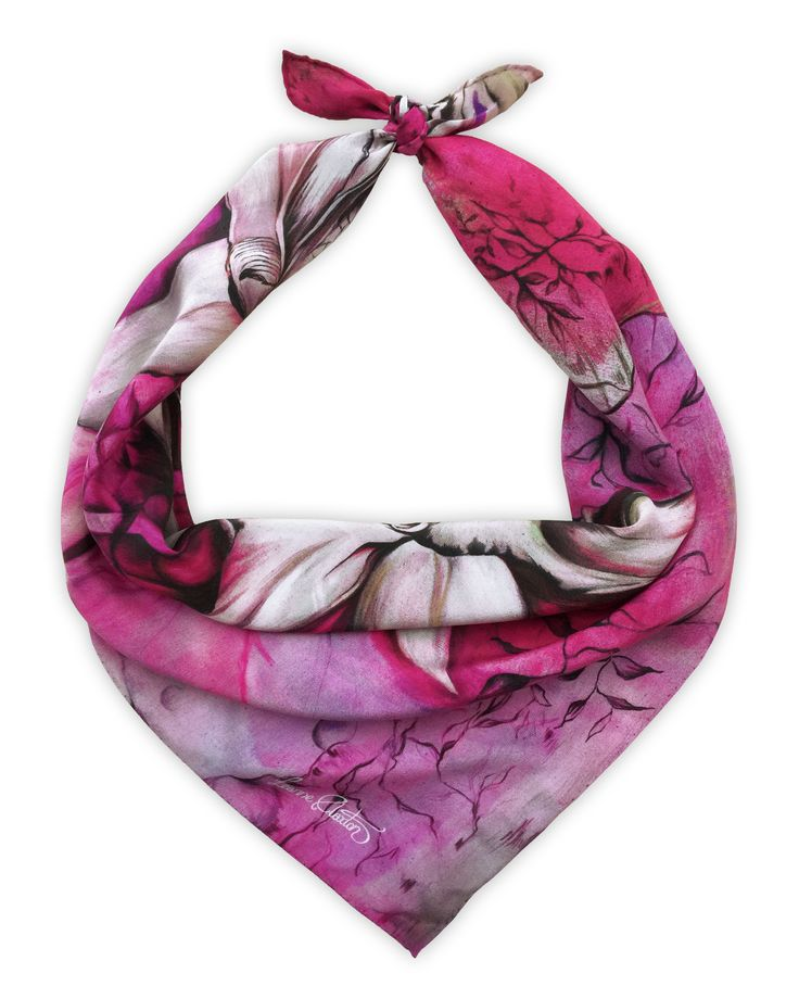 Shop the 'Fearne' Luxury Silk small Scarf online. All Leanne Claxton scarves are taken from a series of oil painted canvases by the artist, which are digitally transformed and printed onto 100% silk. View our Winter 2016 Digital collection, available in a range of colours, styles and sizes, at www.leanneclaxton.com