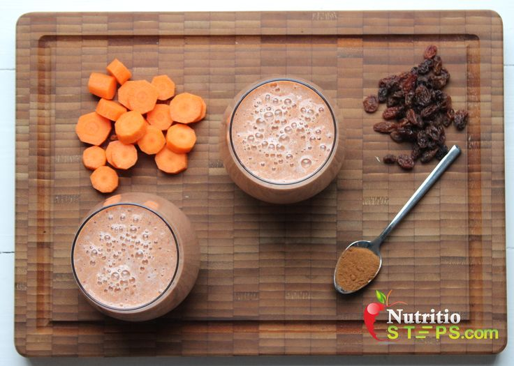 HEALTHY TASTY CARROT CAKE STYLE SMOOTHIE