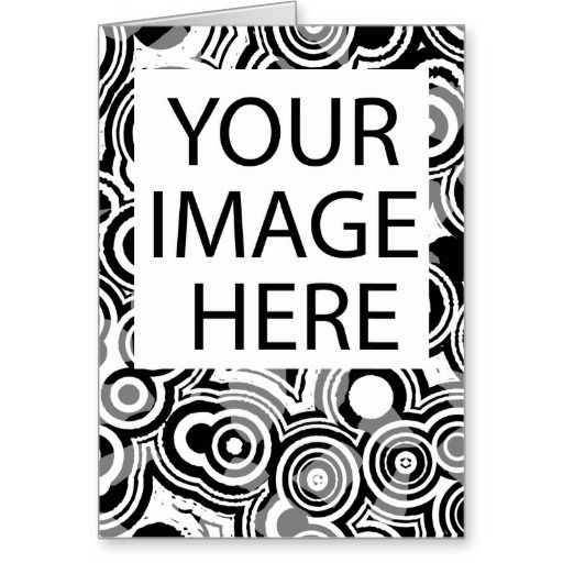 Customizable black & White circle design Greeting Card