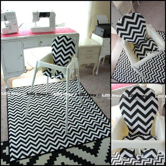 High Chair Mat // High Chair Splash Mat // Art by LilliMaydesigns