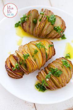 pieczone ziemniaki nacinane