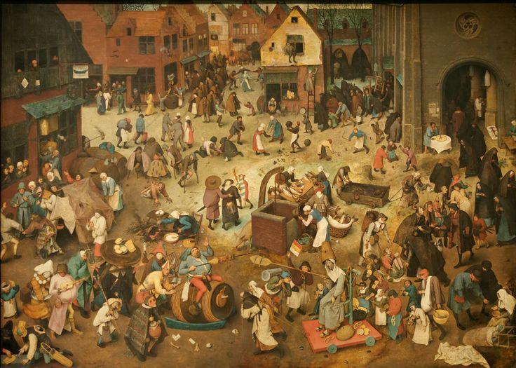 "Pieter Brueghel l'Ancien : ""le combat de Carnaval contre Carême"""