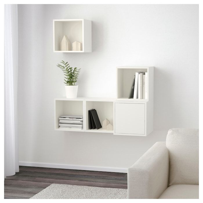 Eket Wall Mounted Cabinet Combination White Ikea Eket Home Decor Bedroom Wall Mounted Cabinet