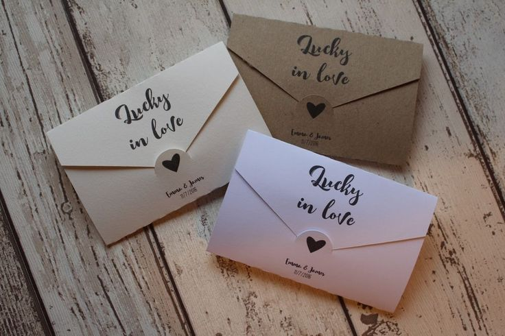 Personalised Wedding Favour Lottery/Scratchcard holders Love letters in Home, Furniture & DIY, Wedding Supplies, Wedding Favours | eBay!
