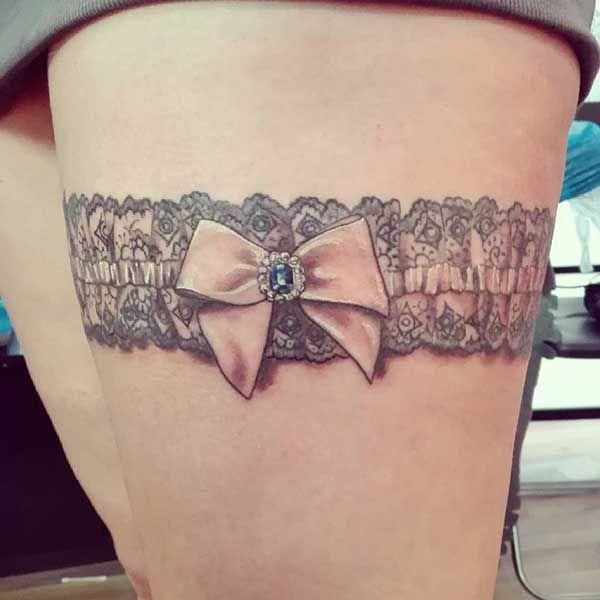 16 Cute Charm Bracelet Tattoos: Best 25+ Garter Tattoos Ideas On Pinterest