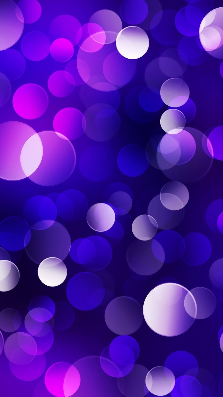 Elegant Glowing Purple Blue Bubble Iphone 6 Hd Wallpaper