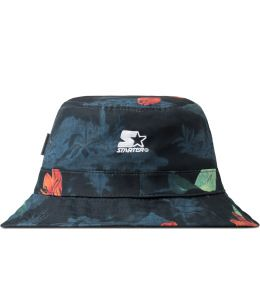 Carhartt WORK IN PROGRESS Tropic Print/Black Reversible Bucket Hat Picture