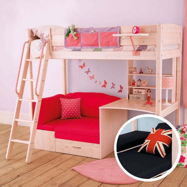 loft bed with couch                                                                                                                                                                                 More