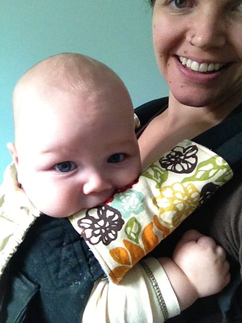 Baby Carrier Teething Pad Tutorial | Burlington VT Moms Blog