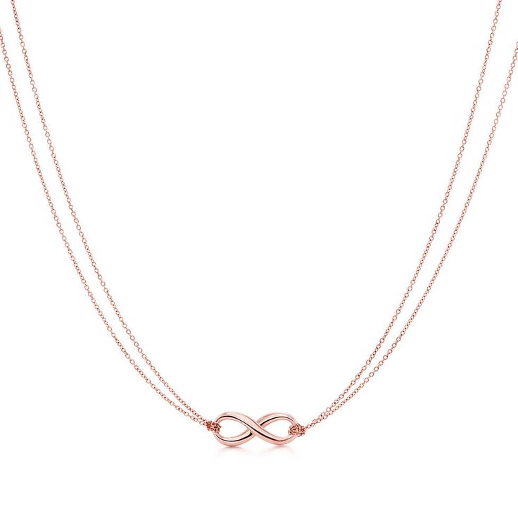 Tiffany Infinity pendant in RUBEDO® metal. | Tiffany & Co.