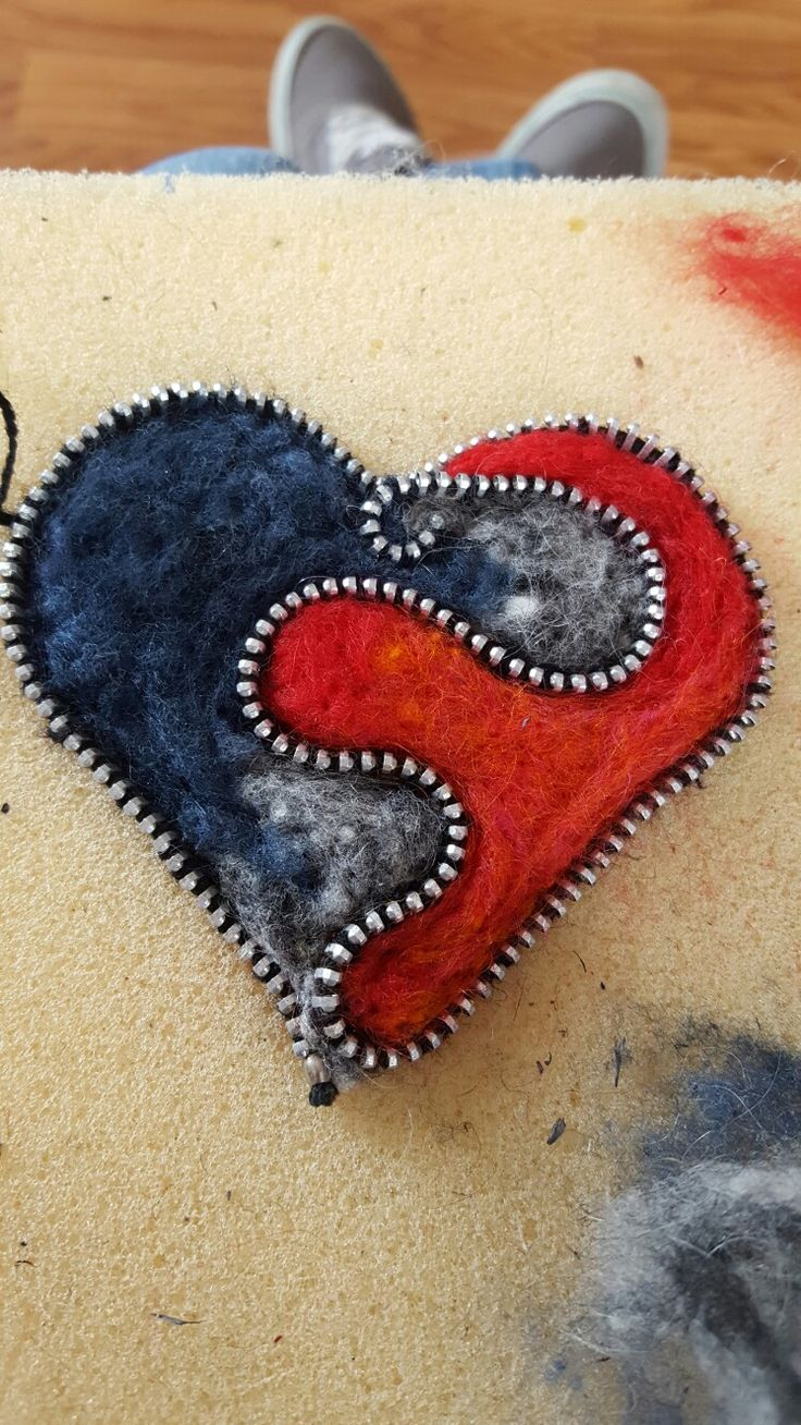 Another felted zipper piece